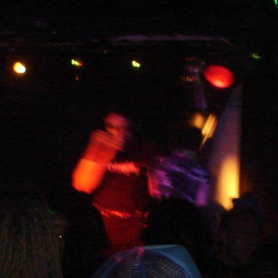 Performing at the Darkrave, Toronto, July 2006.