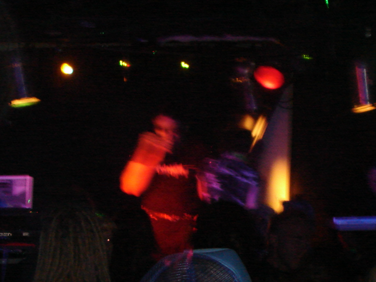 Performing at the Darkrave, Toronto, July 2006.