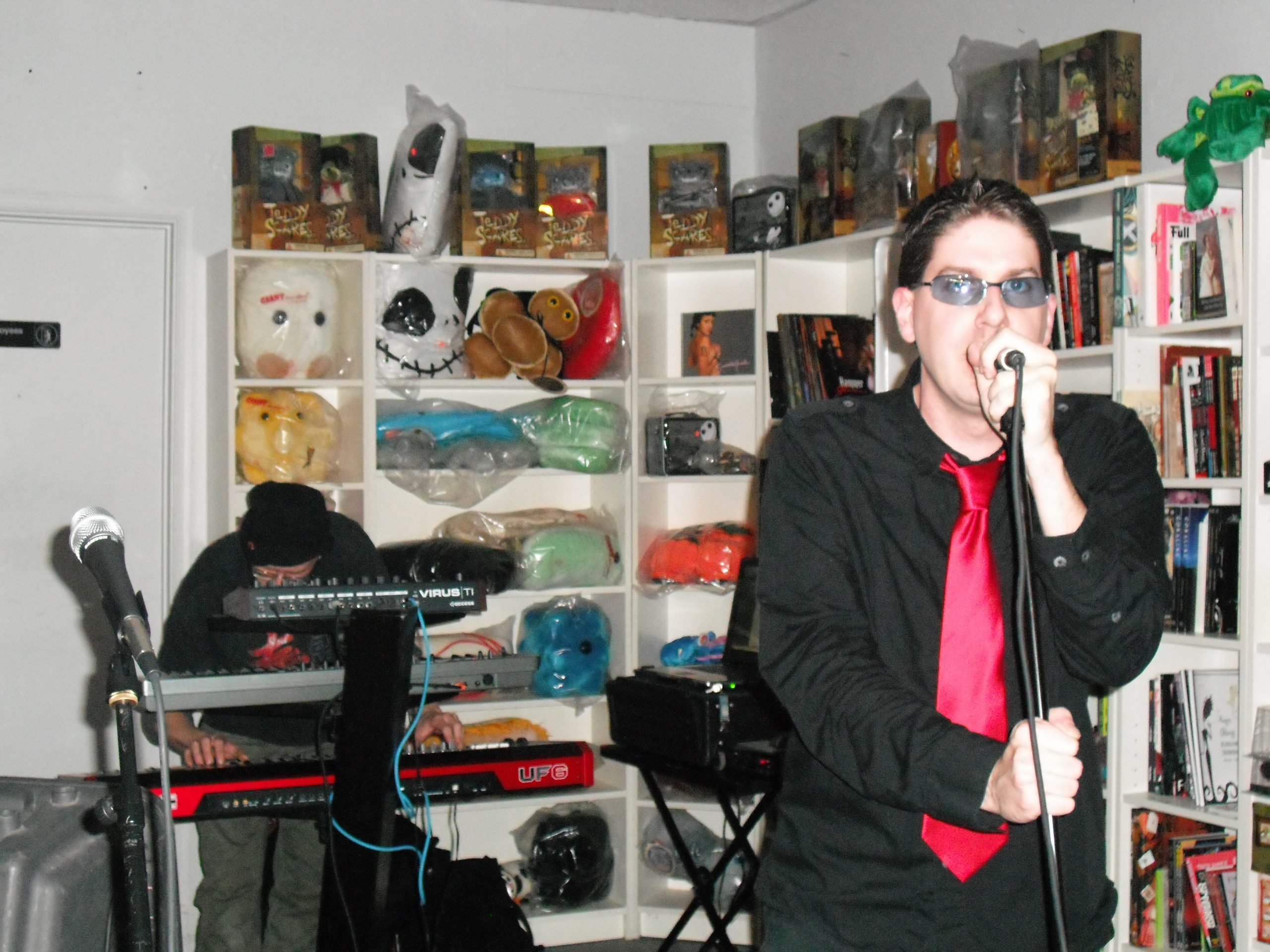 The band actually performed in the Digital Ferret record store in Philadelphia, 2009