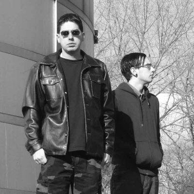 Eric and Jon, shoot for the Beyond Humanity inner sleeve, 2006 (Athena Burt)