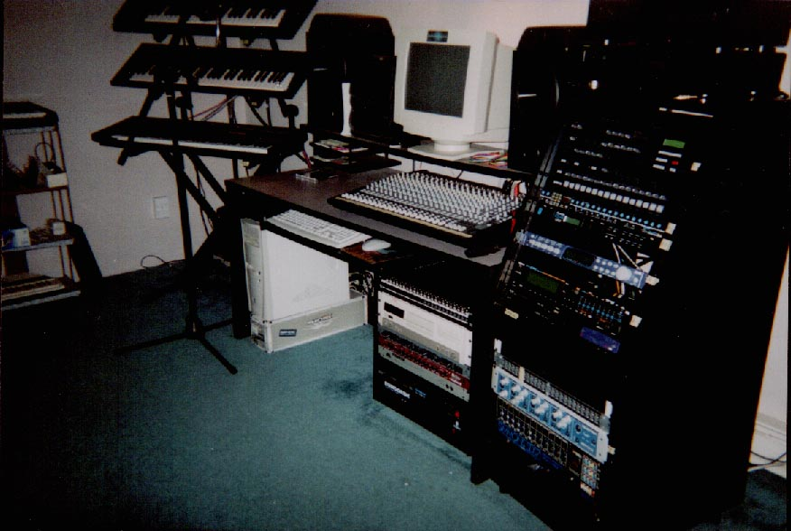 The studio two years later, November 2001 during the making of Angels In Disguise.